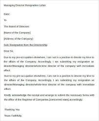 Sample Director Resignation Letters - 12+ Free Sample, Example Format  Download | Free & Premium Templates