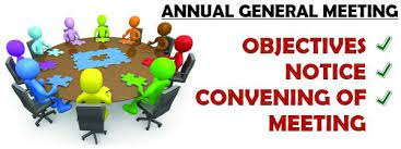 AGM & EGM   Objectives   Notice   Convening of meeting